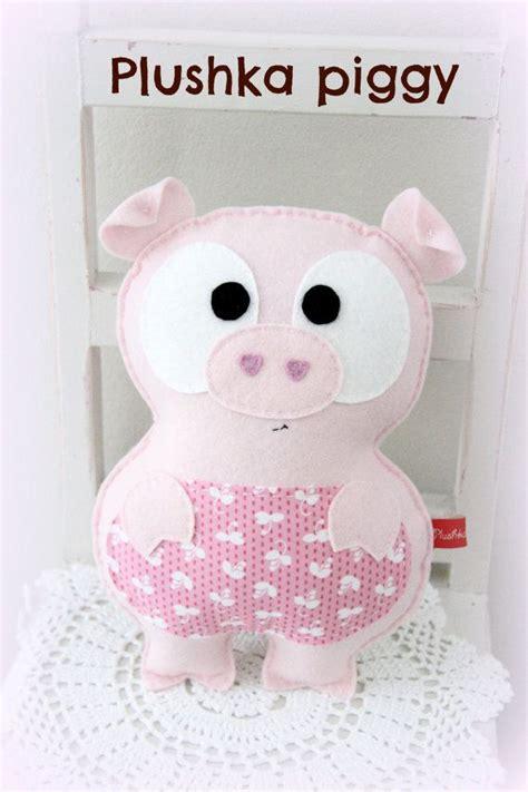 pattern for felt pig felt pig toy pattern farm animal pdf pattern by plushka on