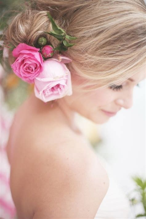 bridal hairstyles with roses blog