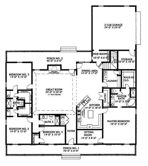 25 Best Ideas About 4 Bedroom House Plans On Pinterest Country House Plans With No Dining Room