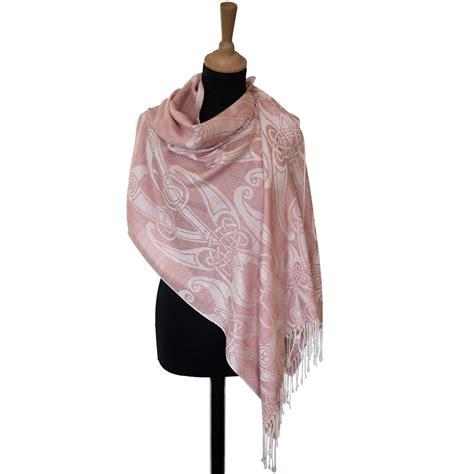 Pashmina Satin Motif 2 blush book of kells motif pashmina scarf celtic thunder store