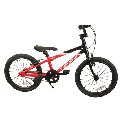 lightweight bike cohesion explorer lightweight 18 inch kids bike red