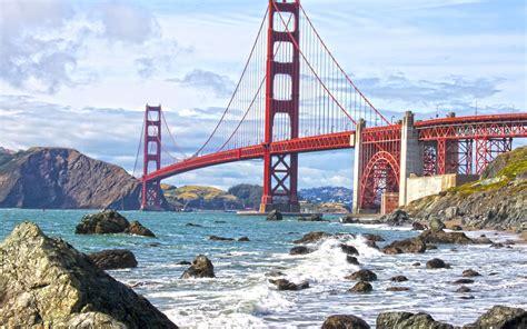 Golden Gate Bridge Supreme Iphone All Hp wallpaper bridge golden gate bridge san francisco usa water waves stones clouds