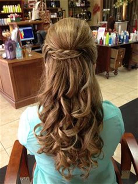 hairstyles with curls and bump wedding hairstyles on pinterest half up half down
