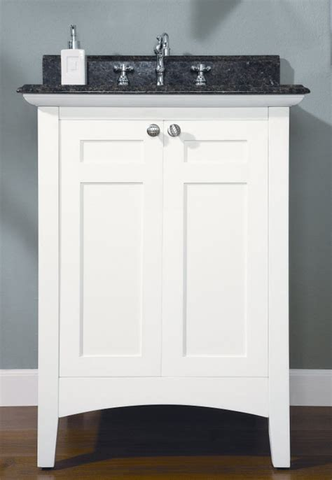 24 Inch Single Sink Shaker Style Bathroom Vanity with