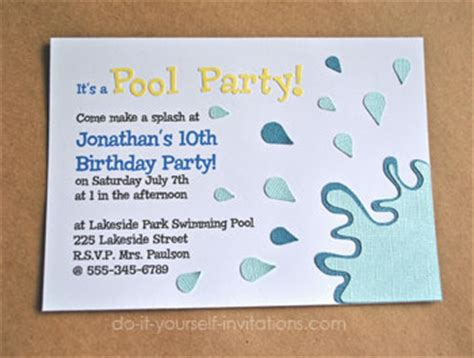 how to create printable party decorations make pool party invitations diy and printable template