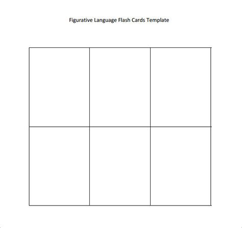 printable editable card template 12 flash card sles sle templates