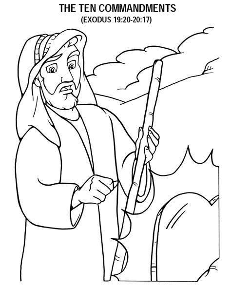 The Ten Commandments Coloring Pages Coloring Pages 10 Commandments
