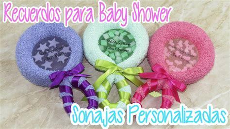 recuerdos personalizados para baby shower sonajas de toalla con jab 243 n de glicerina