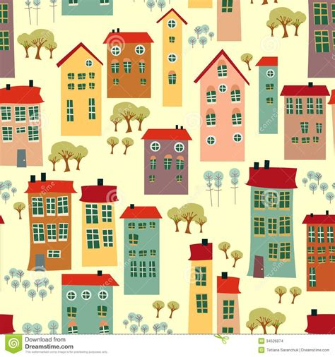 house pattern image seamless pattern with cute houses stock images image