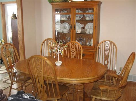 99 Oak Dining Room Table And Chairs For Sale Oak Oak Furniture Dining Room