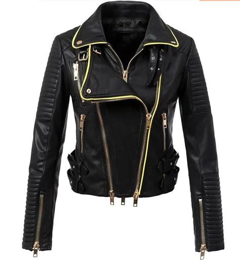 black and gold motorcycle jacket black leather jacket gold zippers jackets review