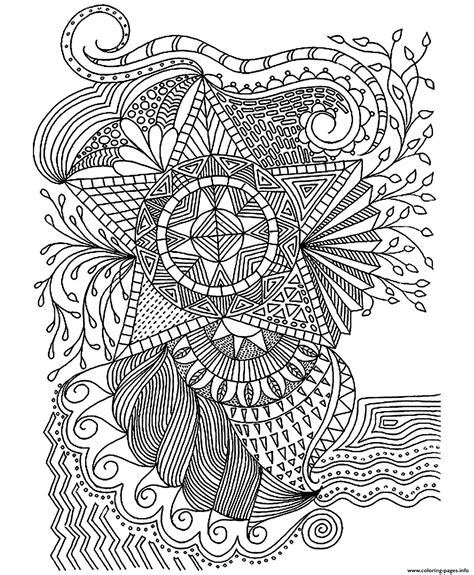 coloring pages for adults star adult flowers stars coloring pages printable