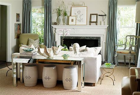 garden stools under sofa table for the home pinterest
