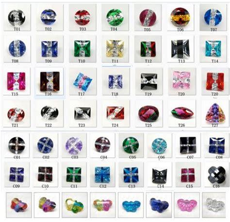 colored gemstones multi colored cubic zirocnia cz gemstones china wholesale