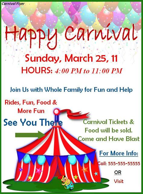 templates for carnival flyers carnival flyer template best word templates