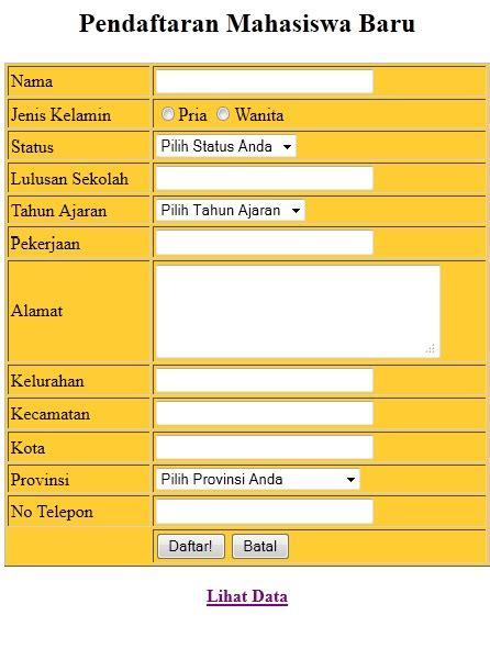 tutorial membuat web pendaftaran siswa baru laporan pola pola perancangan adapter pattern khusnulita08