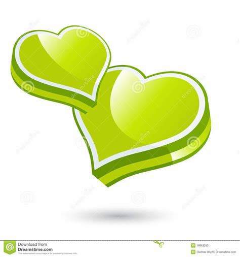 clipart cuori cuori verdi di illustrazione vettoriale