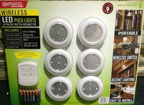 best wireless puck lights lightmates power series 6pk wireless led puck lights w