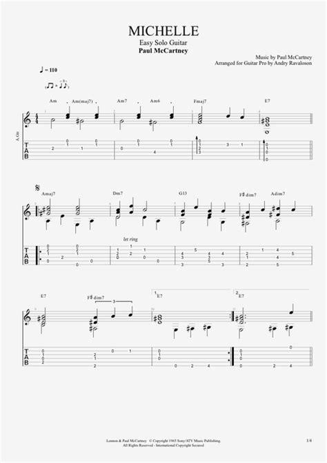 Michelle Beatles Chords Guitar