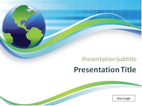 ppt templates free download geography download globe model on abstract blue and green background