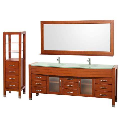 78 bathroom vanity cabinet daytona 78 quot double bathroom vanity set side cabinet by wyndham collection cherry