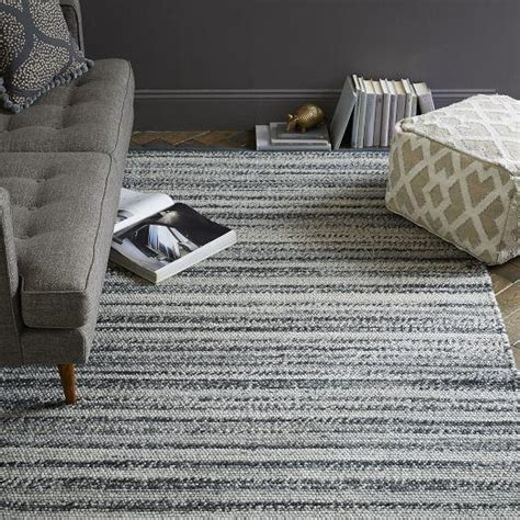 west elm rug steven alan tweed wool rug gray west elm
