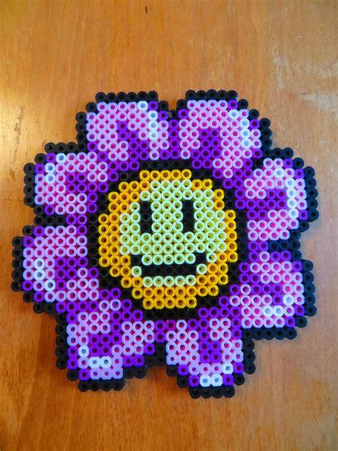perler bead flower designs smiley flower perler magnet