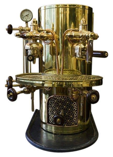 Vintage Espresso Maker Coffee And Its Paraphernalia