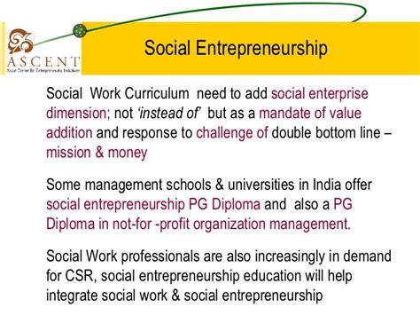 Usc Social Entrepreneurship Mba by Social Entrepreneur