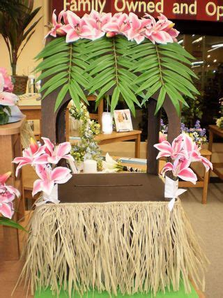 hawaiian themed wishing   card box time travel