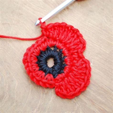 pattern to crochet a poppy remembrance poppy crochet project remembrance poppy