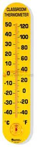 Room Temp In Celsius by Classroom Thermometer 15 Quot H X 3 Quot W Fahrenheit Celsius By