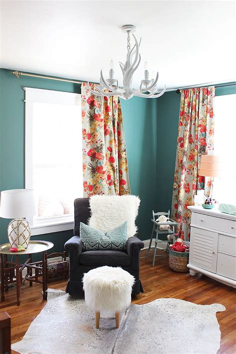 Cowhide Rug Nursery 25 Best Ideas About Teal Curtains On Teal
