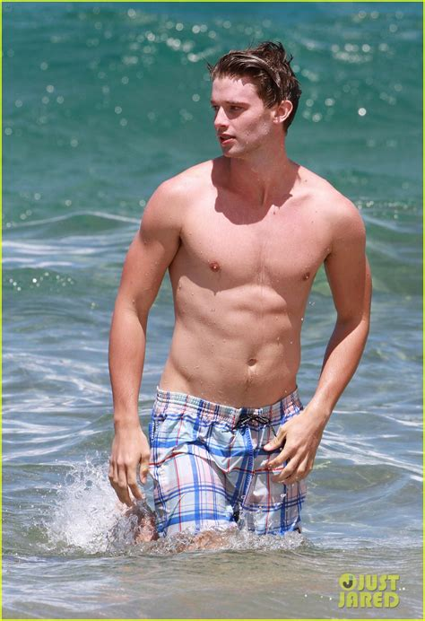 full sized photo of shirtless patrick schwarzenegger