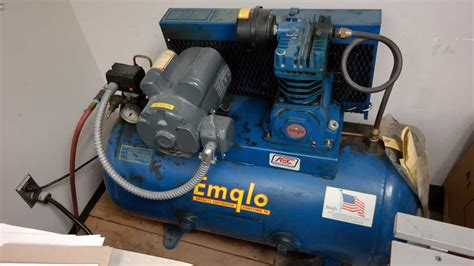 lot 11 emglo model a 1 5hp air compressor wirebids