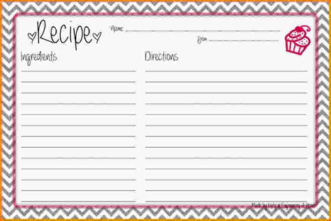 recipe template word gallery templates design ideas