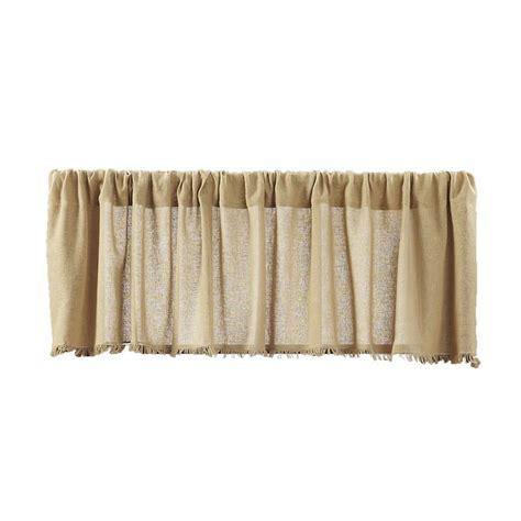 cloth drapes tobacco cloth khaki curtain valance