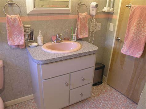 retro bathroom vanity mary elizabeth s year long little by little 1959 pink