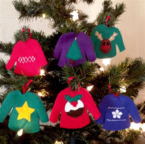 make your own christmas jumpers decorations by sarah