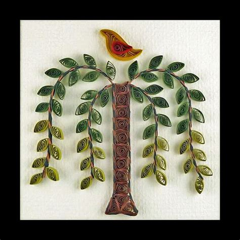 paper quilling tree tutorial tutorial quilled weeping willow tree folk art pattern