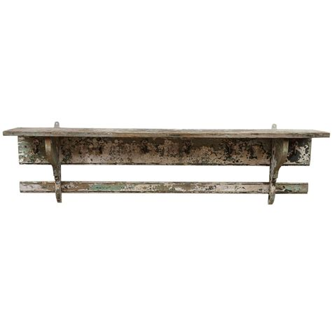 french rustic wall shelf with hooks at 1stdibs
