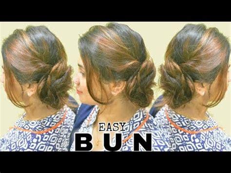 2 minute elegant bun hairstyle totally easy hair tutorial 2 minute elegant side bun hairstyle easy summer