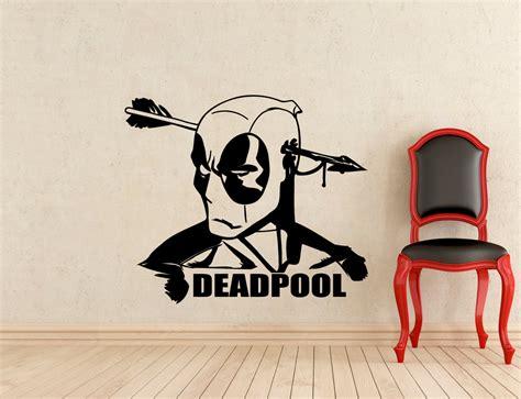 comic wall stickers deadpool wall decal dc marvel comics vinyl sticker