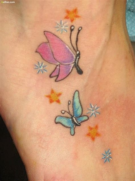 small blue butterfly tattoo 50 lovely ankle butterfly tattoos designs small 3d