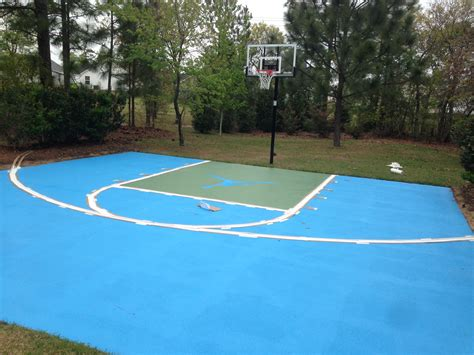 Diy Backyard Basketball Court by How To Paint An Outdoor Basketball Court Diy Ruth