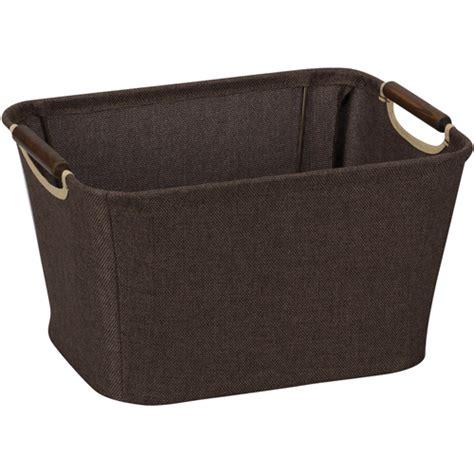 Decorative Storage Baskets by Decorative Storage Basket With Handles In Shelf Bins