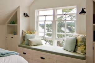 Diy Bay Window Seat - sullivan island cottage bedroom window seat rustic