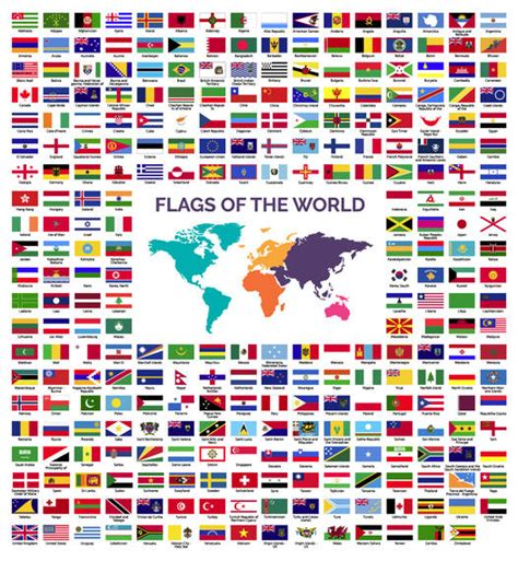 flags of the world download world flags collection vector download