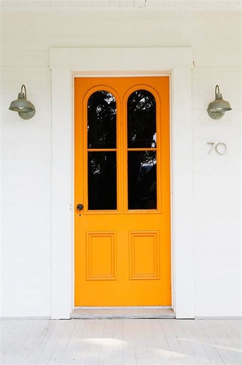 25 best ideas about orange front doors on orange door colored front doors and