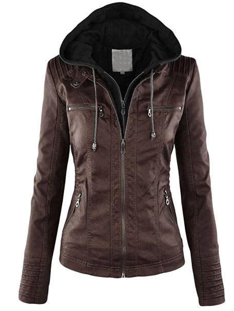 chaquetas imitacion cuero cazadora imitaci 243 n cuero con capucha mujer